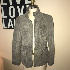 Women's Kenneth Cole distressed leather jacket
